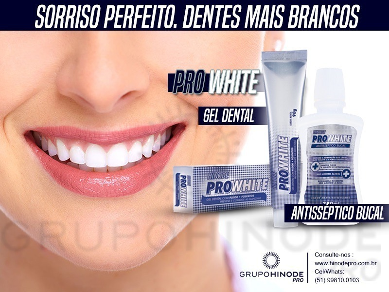 Kit 12 Gel Dental Pasta De Dente Clareador Hinode Pro White R 149