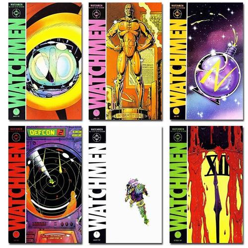 kit 12 imãs revistas watchmen dc comics vertigo figma