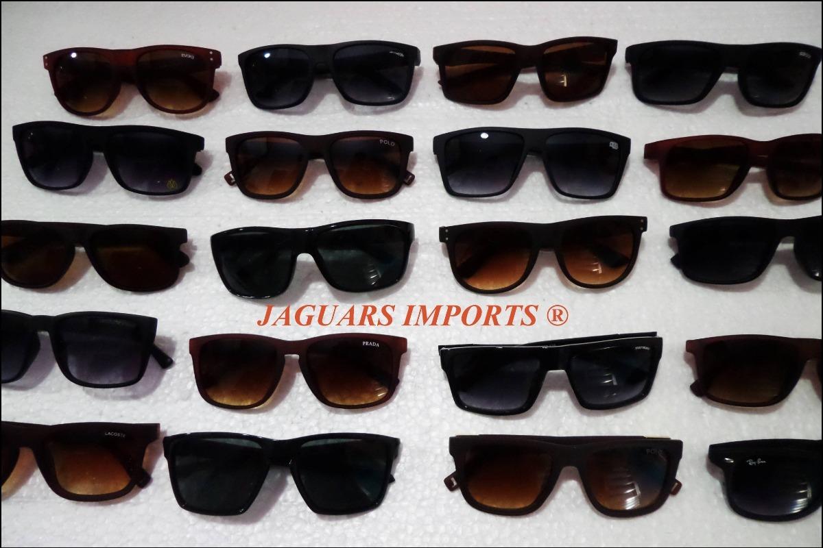 69d8f22221628 Kit 12 Óculos De Sol Masculinos Ótima Qualidade Atacado Top - R  140 ...
