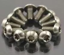 kit 12 parafusos titanio rotor disco  m5x10 + 8 pinça m6x18m