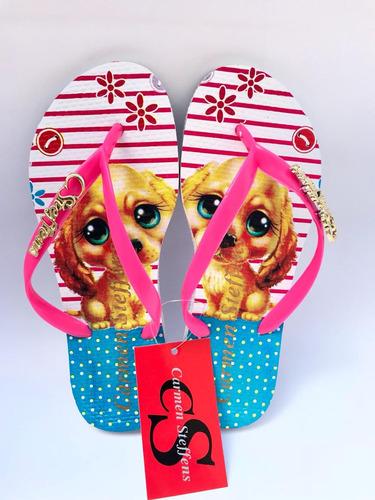 kit 12 pares chinelos sandálias várias estampas atacado