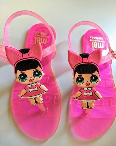 kit 12 pares sandália lol.