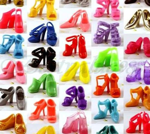 kit 12 pares sapato pra boneca barbie *não repete sapatinho