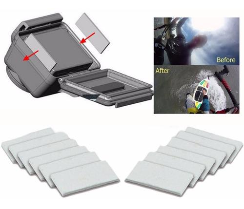 kit 12 pastilhas anti embaçante anti fog gopro + frete 9,90