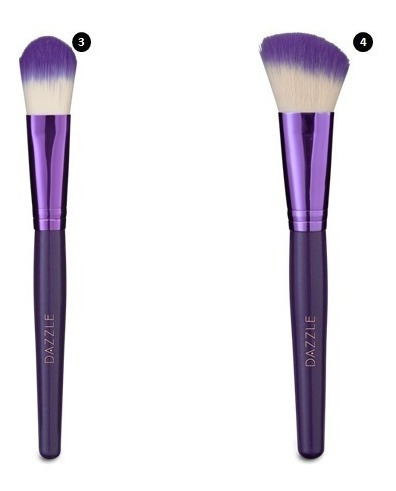 kit 12 pincéis para maquiagem + esponja 3d original hinode