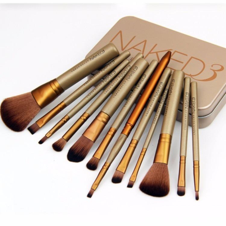2ec87c9cb9626 Kit 12 Pincel Estojo Profissional Maquiagem Brush Naked 3 - R  40,75 ...