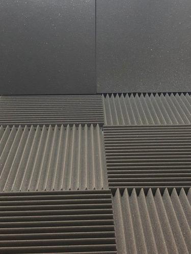 kit 12 placas acústicas flat 35 mm 3 m² anti chamas
