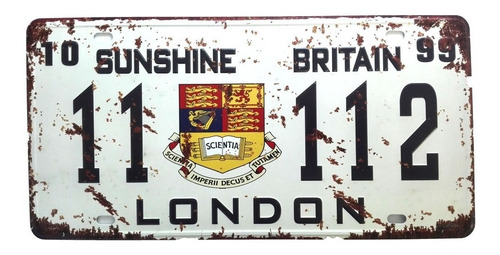 kit 12 placas carro vintage aço em alto relevo 30x15cm k4