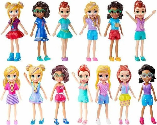 kit 12 polly pocket mattel boneca original pronta entrega