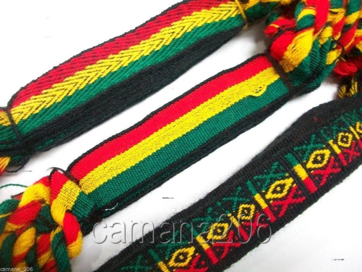 ca378a4b62a Kit 12 Pulseiras Reggae Jamaica Grossa 2cm. Ref  513 - R  23