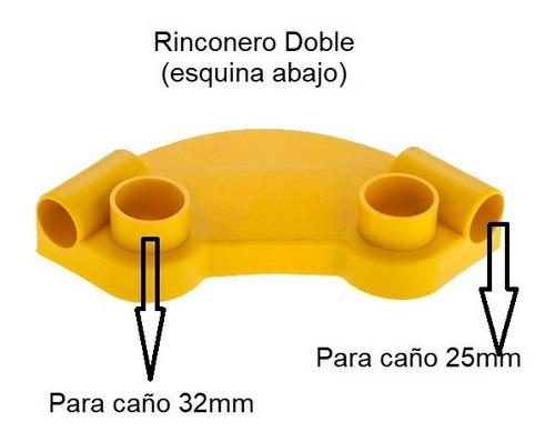 kit 12 repuestos pileta de lona esquinero caño doble kaczur