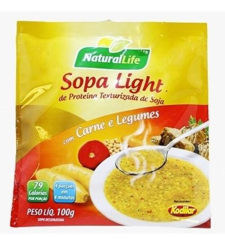 kit 12 sopa light carne, feijão, galinha, legumes 100g