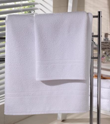 kit 12 toalhas de banho para hotel, motel, pousada - atacado