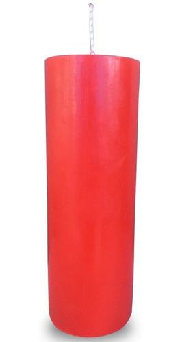 kit 12 velas votivas 7 sete dias colorida vermelha