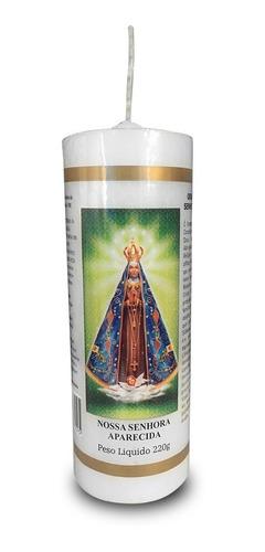 kit 12 velas votivas 7 sete dias nossa senhora aparecida nv