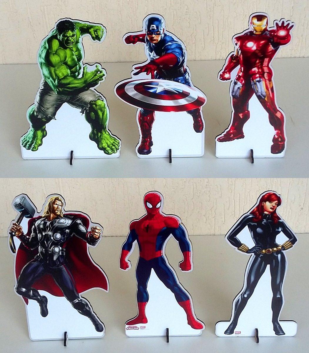f1f00d1f0 kit 12 vingadores mesa hulk, cap américa, homem de ferro mdf. Carregando  zoom.