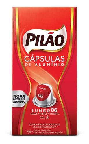 kit 120 cápsulas lungo 6 café pilão