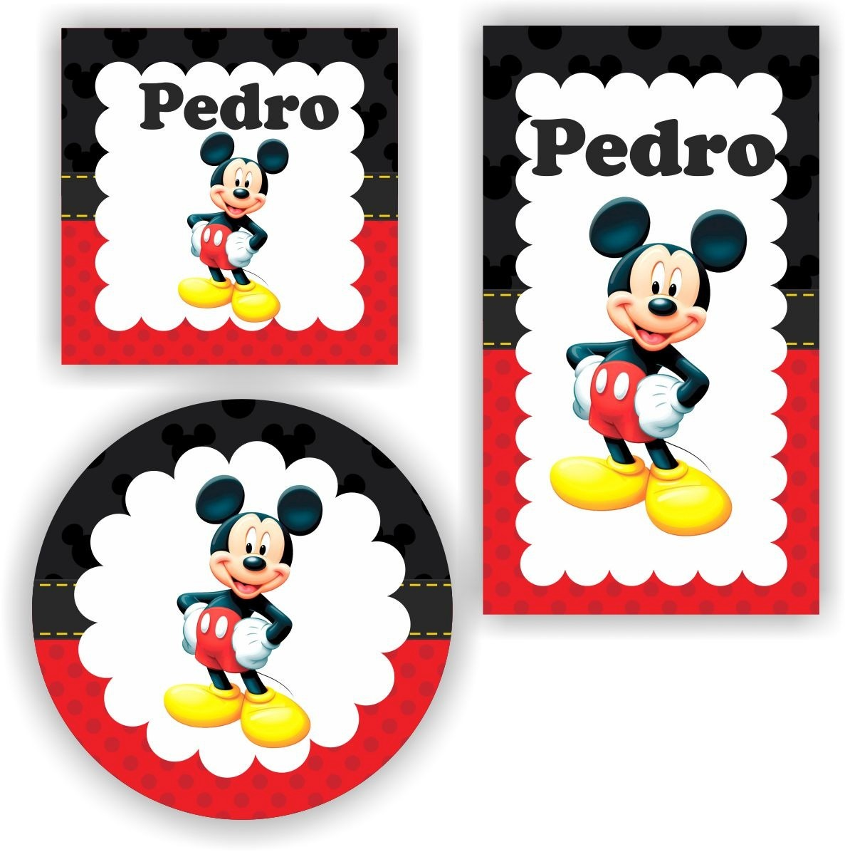 Adesivo De Parede Tijolo A Vista ~ Kit 120 Unid Adesivo Personalizado Mickey Minnie Lembrancinh R$ 29,99 em Mercado Livre