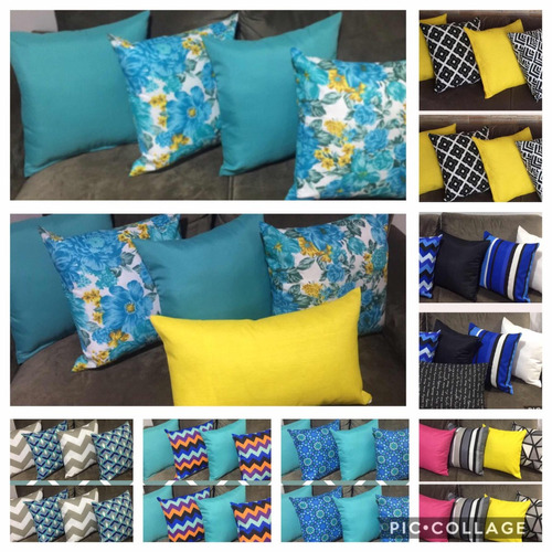 kit 12capas almofadas decorativas monte como quiser seu kit