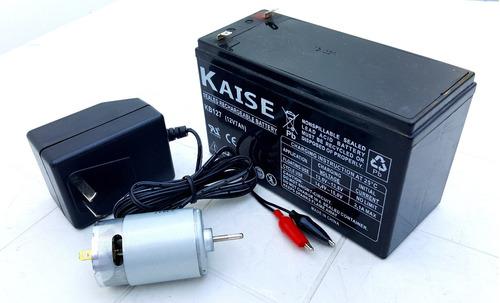 kit 12v reforzado ideal auto cuatriciclo moto a bateria niño
