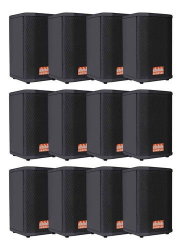 kit 12x caixas passivas somplus 6 polegadas 150w sp062vias