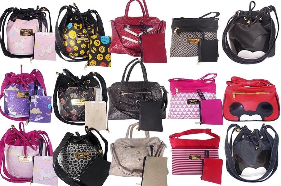 953ee221ec786 kit 13 bolsas femininas p  revenda preço de atacado fabrica. Carregando  zoom.