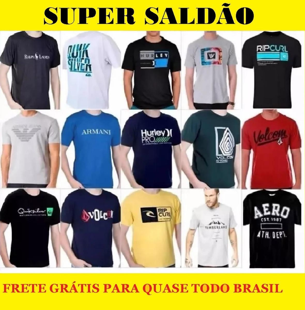 Kit 13 Camisas Camisetas Masculina Hollister Armani Oakley - R  120 ... ce2050208b