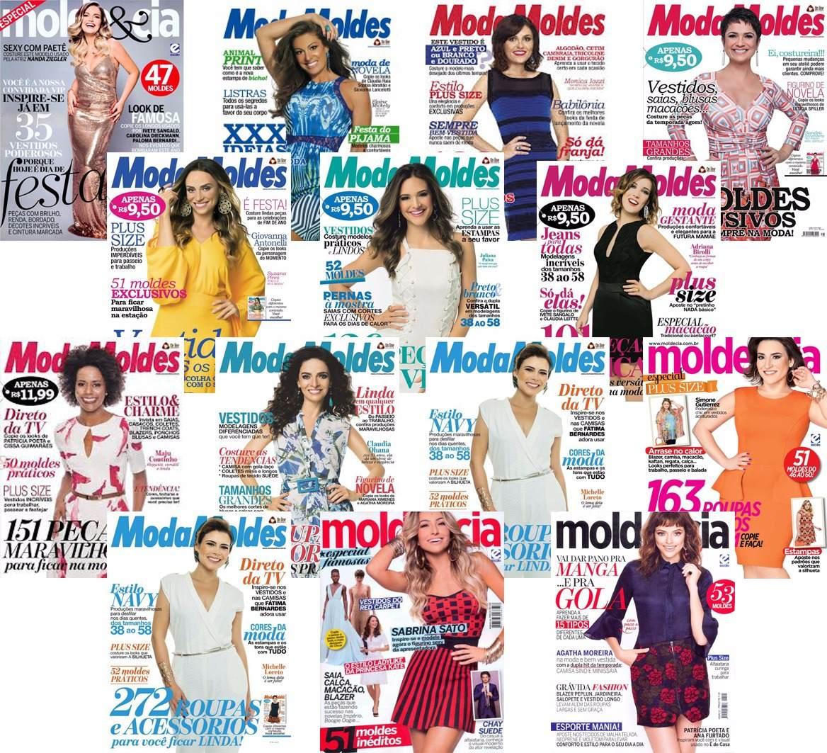 30bcb36467 Kit 13 Revista Moda Moldes Cia Costura Roupa - Promoção! - R  76