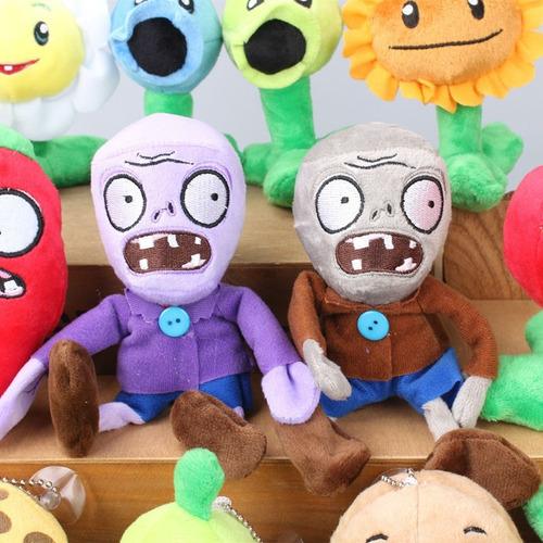 kit 14 bonecos pelúcias plants vs zombies geek lindos