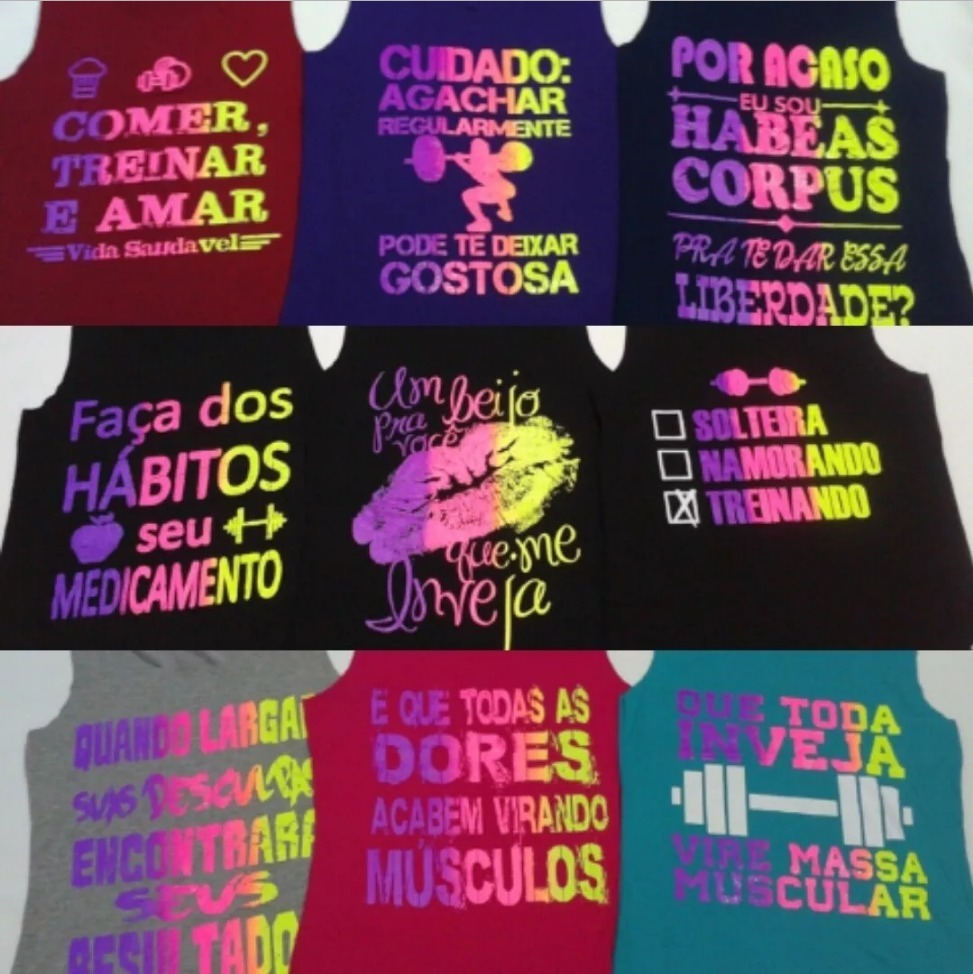 0fd3484324c01 kit 14 camiseta regata fitness academia ginastica feminina. Carregando zoom.