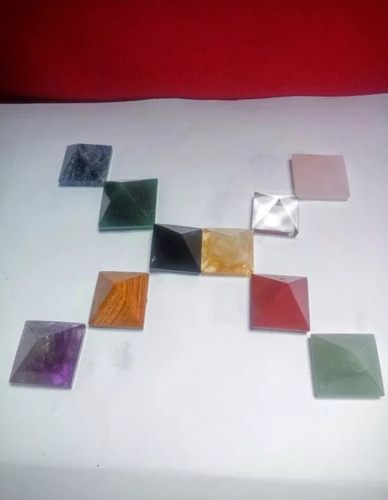 kit 14 piramide cristal ametista obsidiana rosa verde azul