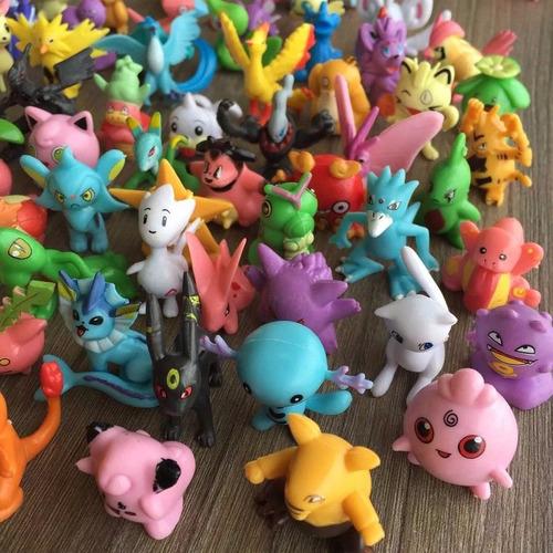 kit 144 pokemon go miniaturas bonecos 2~3 cm sortido pikachu