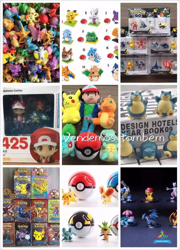 kit 144 pokémons bonecos miniaturas 2-3cm sem repetidos a001