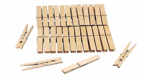 kit 144 pregadores prendedor roupa em madeira c/144 unidades