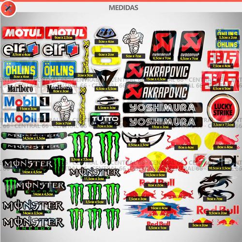 kit 146 adesivos patrocinios agv moto gp alpinestars red