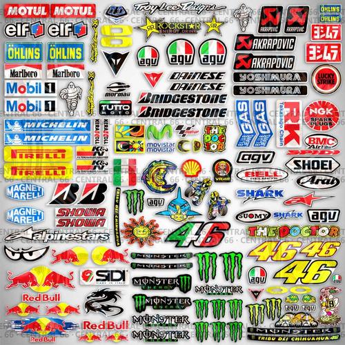 kit 146 adesivos patrocinios agv moto gp alpinestars redbull