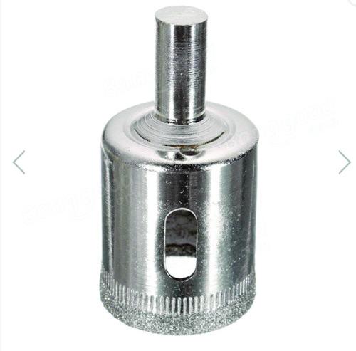 kit 15 brocas diamantadas serra copo 6 a 50mm vidro cerâmica