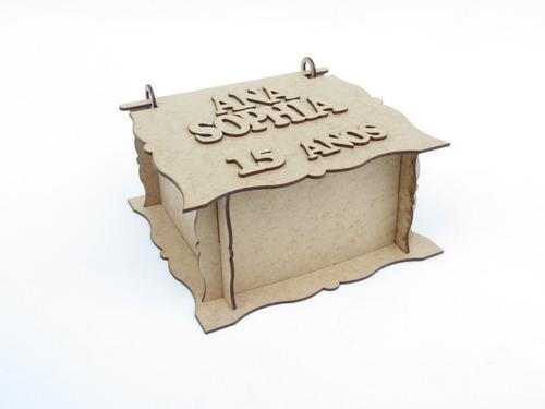 kit 15 caixinhas personalizadas debutante lembrancinha mdf