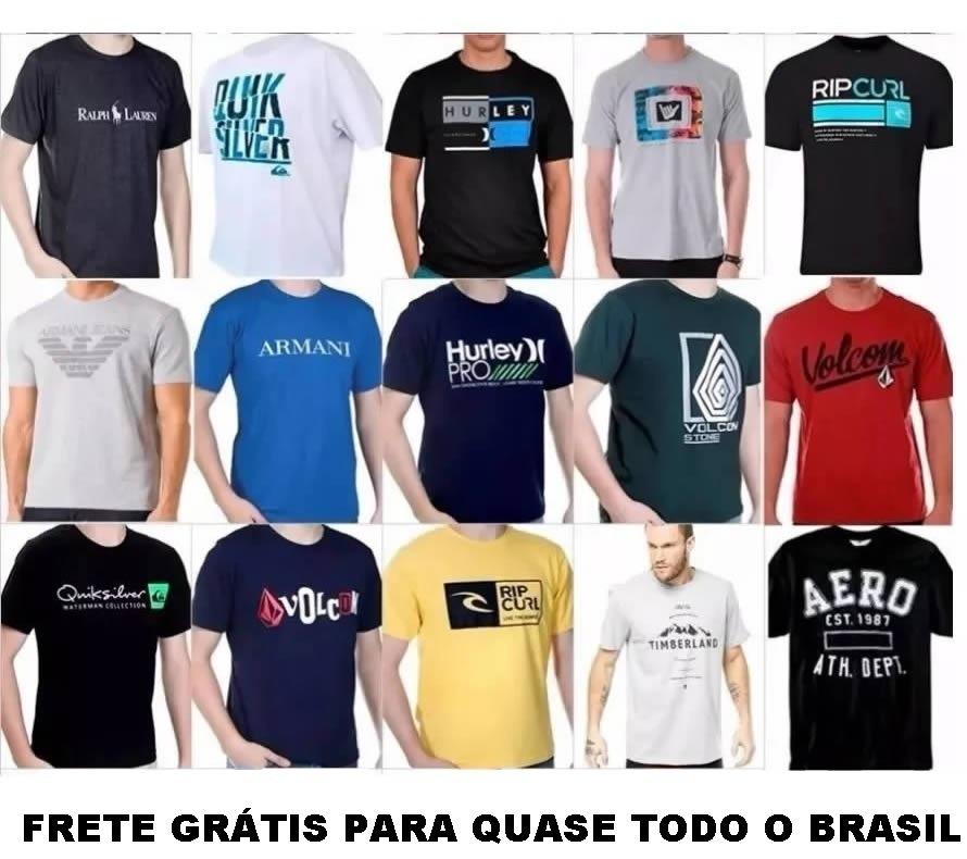 kit 15 camisas masculina hollister armani hurley oakley. Carregando zoom. aac07b424068e