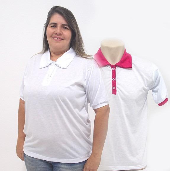 e0c7a5f66 Kit 15 Camisas Polo Branca Para Sublimação - Masc fem! - R  298
