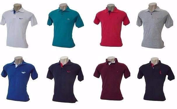 Kit 15 Camisas Polo Masculina Camisetas Polo Pronta Entrega - R  269 ... 3795cae6cd5d5