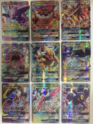 kit 15 cartas pokémon tcg gx e mega novíssimas e full art.