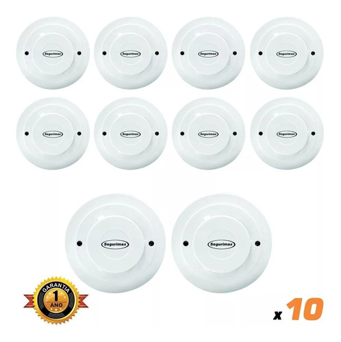 kit 15 detectores incêndio/fumaça segurimax certificado