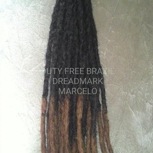 kit 15 dreads sinteticos 60 cm ,*