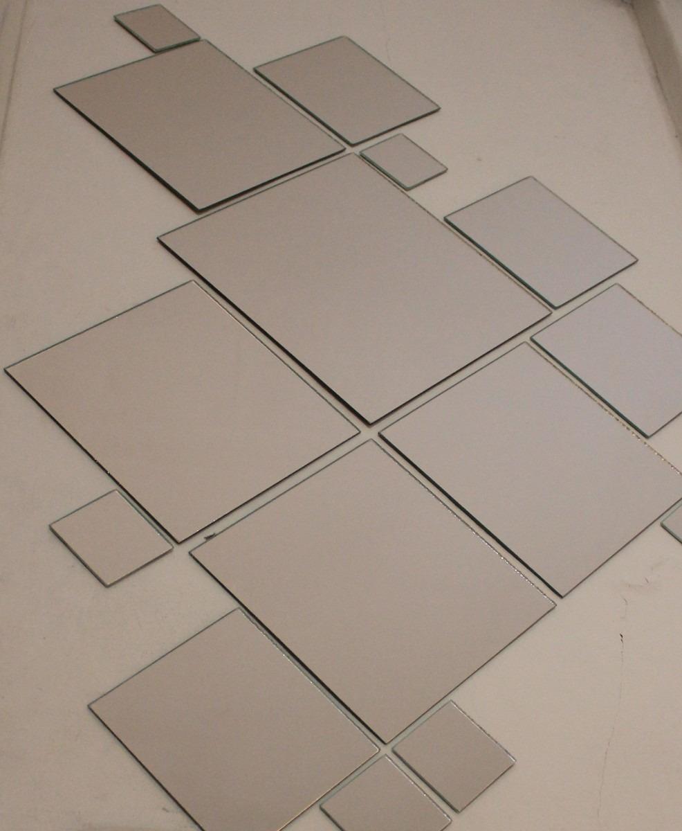 kit espejos cuadrados bao living comedor oficina