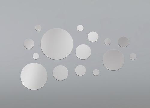kit 15 espejos redondos o cuadrados baño, living, comedor