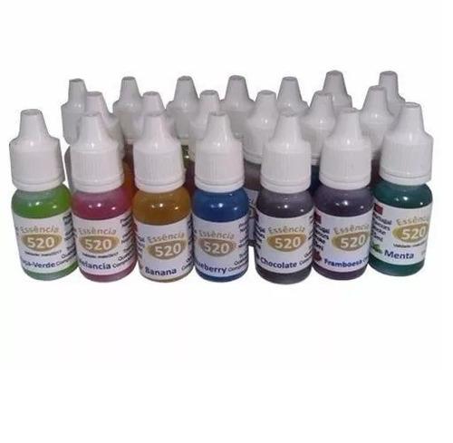 kit 15 essências narguile caneta eletrônico sabores