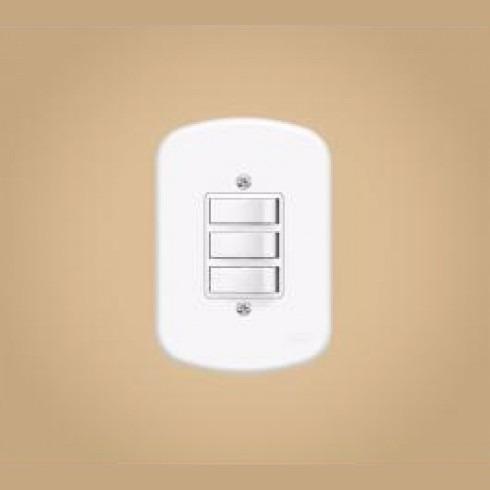 kit 15 interruptor 3 teclas simples - blanc - fame