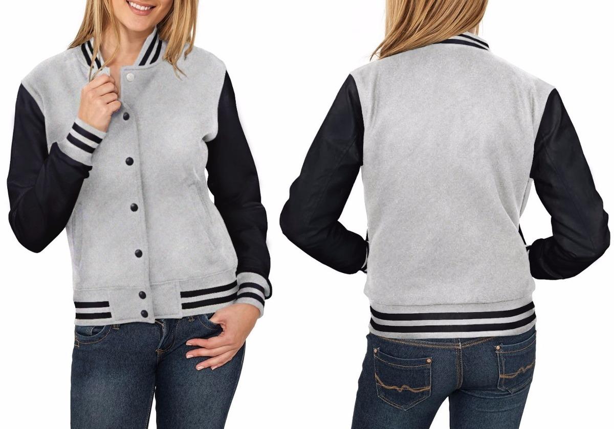 4f1e1eacc kit 15 jaquetas college feminina cinza e preta moletom top. Carregando zoom.