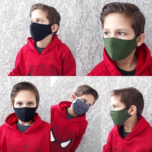 kit 15 máscaras dupla camada - lavável
